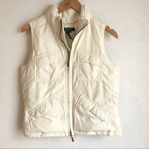 LAUREN RALPH LAUREN Down Feather Puffer Vest Sz SP